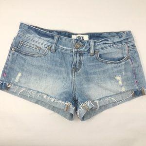 Pink Victoria Secret | Distressed Denim Shorts